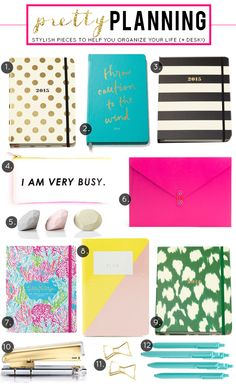 Pretty Planning: Stylish Pieces to Help You Organize Your Life (& Desk)!
