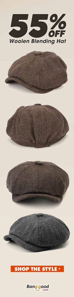 06666c4a6dc New Fashion-Men Visor Woolen Blending Newsboy Beret Caps Outdoor Casual  Winter Cabbie Ivy Flat Hat
