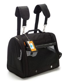 Look at this Black Backpack Pet Carrier on #zulily today!