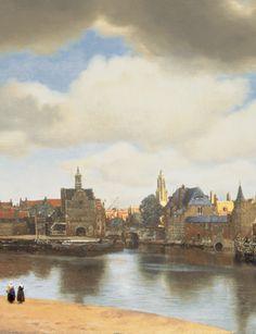 Johannes Vermeer, (1632-1675), View of Delft, c. 1660-1661 (detail).