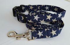 Patriotic dog collar with matching leash  by InspiredByMocha
