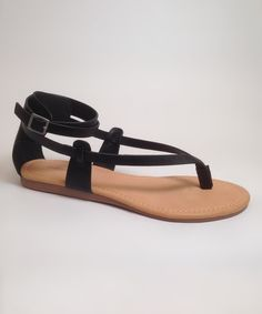 Look at this Black Hipp Sandal on #zulily today!