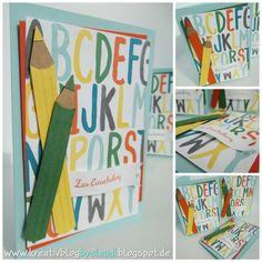 www.kreativblogbyclaudi.blogspot.de: Gückwünsche zur Einschulung