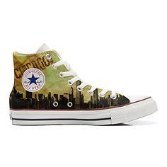 Scarpe Converse All Star personalizzate (prodotto Artigianale) Chicago Style - TG37 - http://on-line-kaufen.de/make-your-shoes/37-eu-converse-all-star-personalisierte-schuhe-30