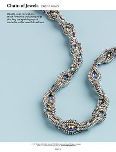 A beaded rope necklace or bracelet can be simple and casual or elegant and embellished. Explore the possibilities with this eBook of 18 projects handpicked by Beadwork's editors. Beading Techniques, Beading Tutorials, Rope Necklace, Necklace Set, Beaded Jewelry, Beaded Bracelets, Candy Necklaces, Herringbone Stitch, Jewelry Patterns