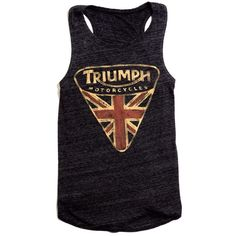 Lucky Brand Triumph Muscle Tee ($21) ❤ liked on Polyvore featuring tops, shirts, tank tops, tanks, blusas, black mountain, shirts & tops, muscle t shirts, black tank and muscle tee shirts