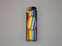 RAINBOW OVAL CIGARETTE LIGHTER