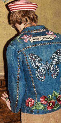 Gucci Embroidered Denim Pre-Fall 2016