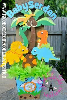 trendy baby shower ideas for girs centros de mesa party planning Dinosaur Birthday Party, 2nd Birthday Parties, Baby Birthday, Birthday Ideas, Baby Shower Parties, Baby Shower Themes, Baby Shower Decorations, Shower Ideas, Shower Centerpieces