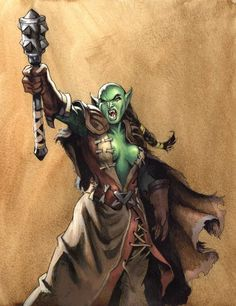 female orc shaman... Could very easily be adapted for human gear
