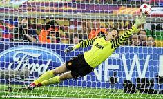 Goalkeeper Edwin van der Sar helped Manchester United reach three Champions League finals.