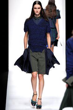 Sacai Spring 2013 Ready-to-Wear Fashion Show - Mackenzie Drazan