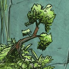 Cave tree from my story. #tree #bonsaitree  #karatekidtree #indieart #indiecomic #indieartist #digitalart #digitaldraw #digitalcomic #digitalartist