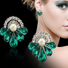 Elegant Big Water Drop Rhinestone Earrings – I Be Stylin