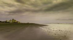 Dia gris en la playa de Necochea
