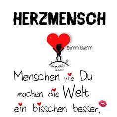 ❤️ #HERZMENSCH … #Menschen wie #Du machen die #Welt ein bisschen #besser.  Bist Du auch ein Herzmensch oder kennst zumindest einen !?  Dann erwähne ihn hier und mache ihm/ihr eine kleine #Freude und sag mal #DANKE ✨ schön das es dich gibt ... Easy Valentine Crafts, Gemini Quotes, Just Be You, Real Friends, Cheer Up, True Words, Beautiful Words, Love Quotes, Stress
