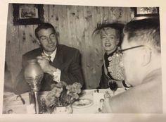 candid with Joe DiMaggio