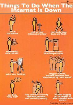 Cosas que puedes hacer cuando no tienes internet.