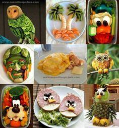 Knutselen met voeding, eten op een leuke manier presenteren!