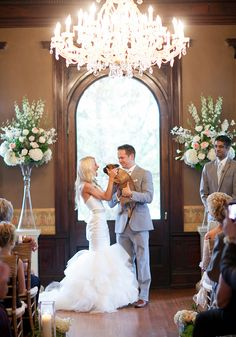 "Puppy love after the ""I Do's"" - photo by Laura Ivanova Photography"