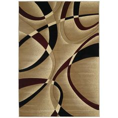"""United Weavers of America Contours LaChic Burgundy Area Rug Rug Size: Runner 2'7"""" x 7'4"""""""