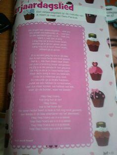 Verjaardagslied op de melodie van 'Ik neem je mee' van Gers Pardoel (uit het tijdschrift Juf, te vinden op de website van mijnmalmberg)
