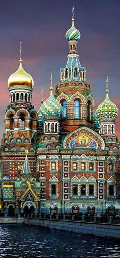 Cathedral of Our Savior on Spilled Blood, in St. Petersburg, Russia