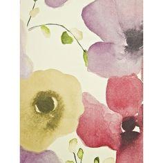 Sanderson Inari Floral Wallpaper (4.455 RUB) ❤ liked on Polyvore featuring home, home decor, wallpaper, backgrounds, floral pattern wallpaper, floral wallpaper, watercolor wallpaper, pattern wallpaper and floral home decor