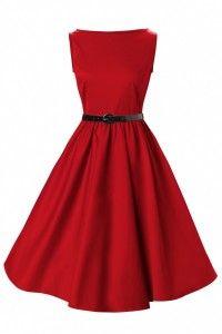 vestidos vintage vermelho