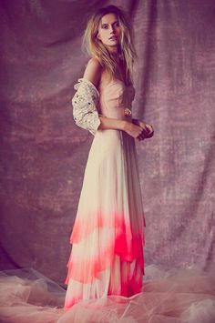 I want this but black and dip dyed in Orange for prom or something
