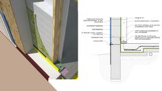 The walls in VolksHouse 1.0 use a combination of dense-packed cellulose and an EPS half-SIP for insulation.