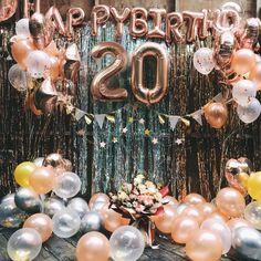 Rose gold birthday balloon decoration set birthday party decor birthday party balloons banner birthday outfit 29 new ideas birthday Birthday Balloon Decorations, Birthday Backdrop, Balloon Banner, 21st Party Decorations, Balloons For Birthday, Birthday Decoration Items, Gold Birthday Party, Birthday Party Themes, 20 Birthday