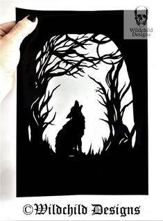 Howling Wolf Paper Cutting Template for Beginners Commercial Paper Cutting Templates, Stencil Templates, Stencil Designs, Stencils, Wolf Stencil, Wolf Silhouette, Silhouette Images, Business Stationary, Wood Burning Patterns