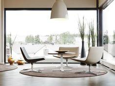 INTERIORS :: lovely seating area using the Arper Catifa lounge swivel chair, by Design Studio - Solvalla-Kontor #interiors