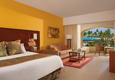 Preferred Club Deluxe Room with views of the Caribbean Sea at Now Larimar