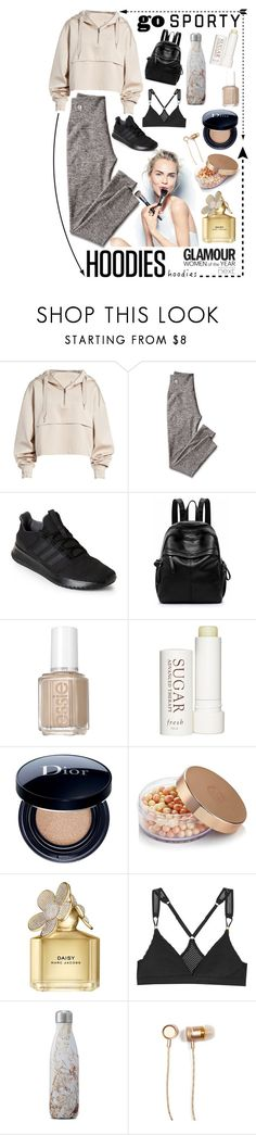 """Cozy"" by wickedwonder ❤ liked on Polyvore featuring Ivy Park, Mark & Graham, adidas, Essie, Therapy, Christian Dior, Marc Jacobs, Sephora Collection, Goody and STELLA McCARTNEY"