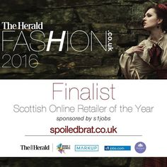"Nominated ** 28/10/16 as ""Scottish Retailer of the Year"" 2016 - Glasgow Herald Fashion 2016"