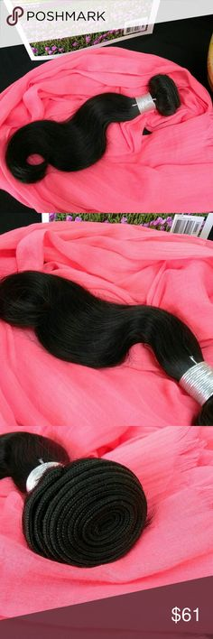 Body Wave Weave Hair Extensions Color~ Natural  Style~ Body Wave  Unprocessed Virgin Human Hair  Priced for (1) bundle  Length~ 12 inches Accessories Hair Accessories
