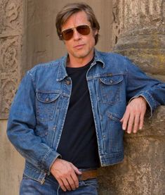add the classy look with this amazing outerwear Once Upon A Time In Hollywood Brad Pitt Jacket. Made of purely denim fabric. Brad Pitt Haircut, Donald Glover, Older Men, Denim Fabric, How To Look Classy, Once Upon A Time, In Hollywood, Denim Button Up, Moda Masculina