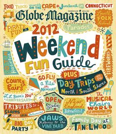 Globe Magazine Cover by Linzie Hunter #typography