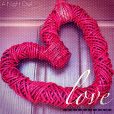 {Project Home} Simply Valentine :: EASY Valentine's wreath made from a reed heart wreath covered with red spray paint!