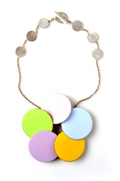 Daniel Kruger-Necklace: Untitled 2010Enamel on copper, silverTo be seen at Galerie Birò Munich.  Photo by Udo w. Beier.