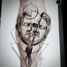 Sketch Style Tattoos, Tattoo Sketches, Tattoo Drawings, Fingerprint Tattoos, Psychedelic Tattoos, Vampire Tattoo, Tattoo Apprentice, Tattoo Stencils, S Tattoo