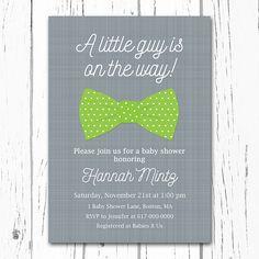 Little Man Baby Shower Invitation Boy Baby by DesignedbyGeorgette