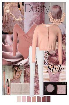 """""""Dusty Rose fashion art"""" by krystalkm-7 ❤ liked on Polyvore featuring Topshop, RED Valentino, Surratt, Jessica McClintock, Jimmy Choo and Charlotte Russe"""