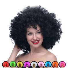 Hot sale cosplay cheap Afro wig Harajuku Anime Party Wig Oversized Multicolour synthetic wigs For Ball Fans Halloween Pelucas