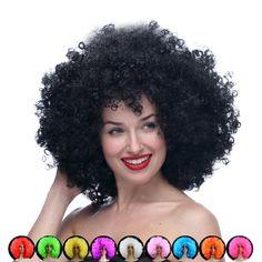 Venta caliente cosplay barato Afro peluca Harajuku Anime Peluca Del Partido de Gran Tamaño Multicolor pelucas sintéticas Para Fans de la Bola de Halloween Pelucas