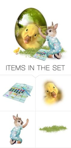"""""""Decorate Eggs!"""" by newsjoan ❤ liked on Polyvore featuring art, Easter, EGGS, polyvoreeditorial and egg"""