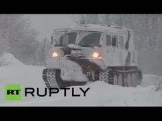 Arctic infantry test drive new Ruslan ATV on mountainous snow in Russia - YouTube