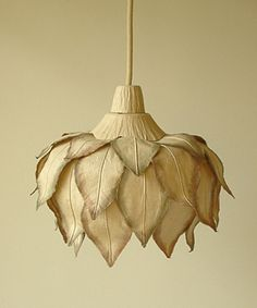 paper flower pendant light by Japanese company Sachie Muramatsu